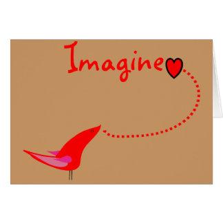 """""""Imaginez""""---Cadeaux de John Carte De Vœux"""