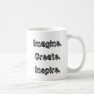 Imaginez. Créez. Inspirez. Tasse de café