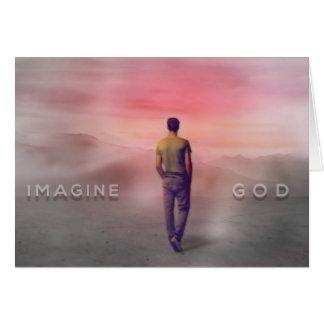 Imaginez la carte de voeux de Dieu