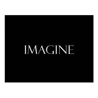 Imaginez la citation inspirée d'imagination de cit carte postale