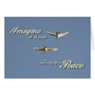 Imaginez la paix carte de vœux