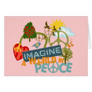Imaginez la paix du monde carte de vœux