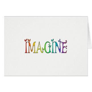 IMAGINEZ l'arc-en-ciel coloré Carte De Vœux