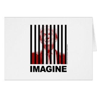 Imaginez l'atout derrière des barres carte de vœux
