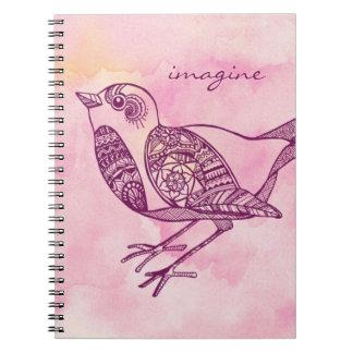 """""""Imaginez"""" le carnet d'oiseau dans l'aquarelle"""