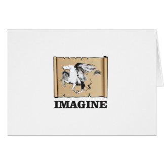 imaginez le cheval blanc carte de vœux