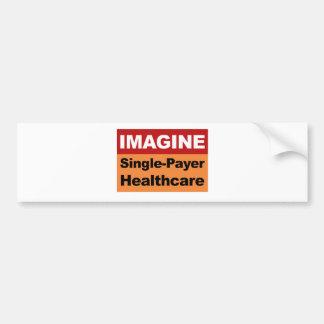 Imaginez les soins de santé simples de débiteur autocollant de voiture