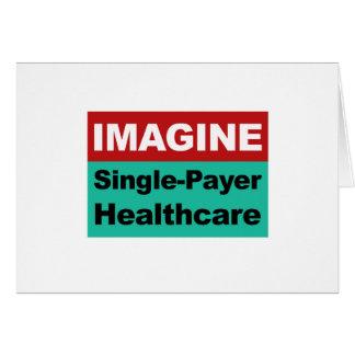Imaginez les soins de santé simples de débiteur carte de vœux