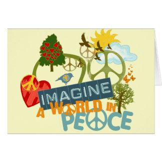 Imaginez un monde dans la paix carte de vœux