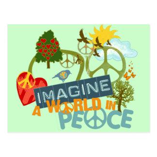 Imaginez un monde dans la paix carte postale