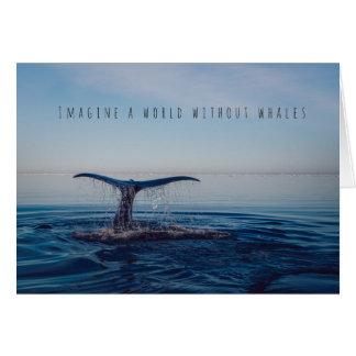 Imaginez un monde sans carte d'amitié de baleines