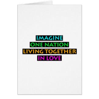 Imaginez une nation vivre ensemble dans l'amour carte de vœux