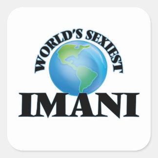 Imani le plus sexy du monde autocollants carrés