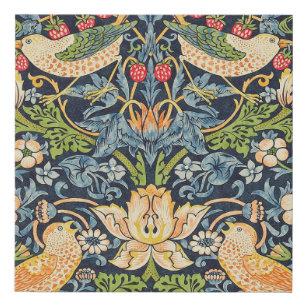 Imitation Canevas Schéma floral William Morris Strawberry Thief