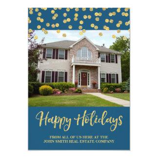 Immobiliers de carte photo de confettis de Noël