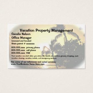 Immobiliers de vacances ou gestion de propriété cartes de visite
