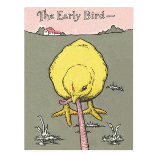 Immobiliers d'oiseau tôt prospectant la carte
