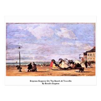 Impératrice Eugenie sur la plage chez Trouville Carte Postale