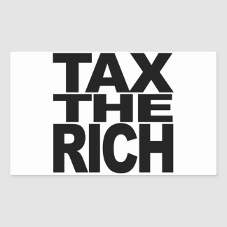 Imposez les riches sticker rectangulaire