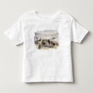 Impression d'un camp occupé par des habilis homos t-shirt pour les tous petits