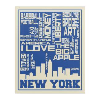 Impression En Acrylique Affiche de typographie de New York City