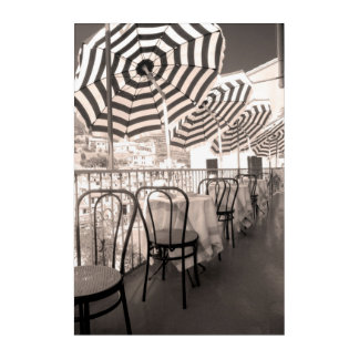 Impression En Acrylique Balcon étrange de restaurant, Italie
