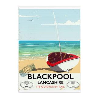Impression En Acrylique Blackpool, lancashire, affiche de rail