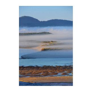 Impression En Acrylique Brouillard de matin au-dessus de baie