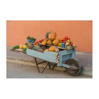 Impression En Acrylique Chariot de fruits et légumes, Cuba