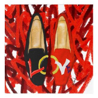 Impression En Acrylique Chaussures d'amour