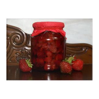 Impression En Acrylique confiture de fraise