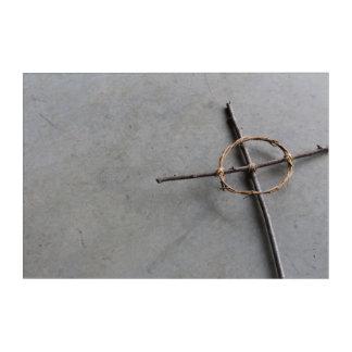 Impression En Acrylique Croix celtique construite par main