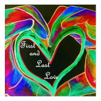 Impression En Acrylique D'abord et dernier amour