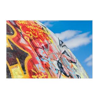Impression En Acrylique graffiti de planète