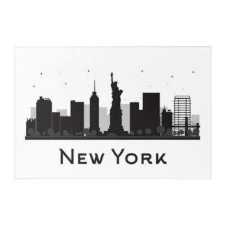 Impression En Acrylique Horizon de New York City   noir et blanc