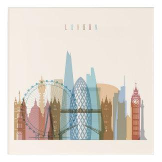 Impression En Acrylique Horizon de ville de Londres, Angleterre  