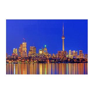 Impression En Acrylique Horizon du centre de Toronto la nuit