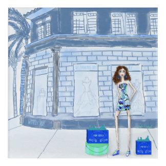 Impression En Acrylique Illustration de mode de Palm Beach