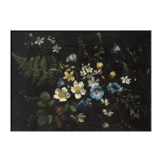 Impression En Acrylique Jet des fleurs et des fougères par Titian Ramsay