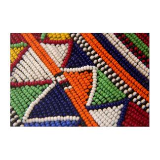 Impression En Acrylique L'Afrique, Kenya. Perles de tribal de Maasai