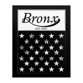 Impression En Acrylique Le drapeau américain de Bronx   New York