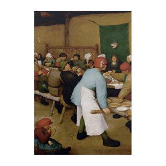 Impression En Acrylique Le mariage rural par Pieter Bruegel l'aîné