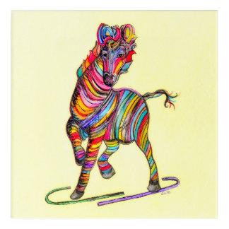 Impression En Acrylique Multicolore