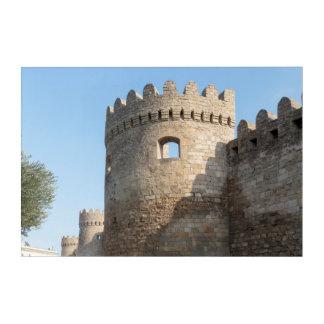 Impression En Acrylique Mur de tour de palais, Azerbaïdjan