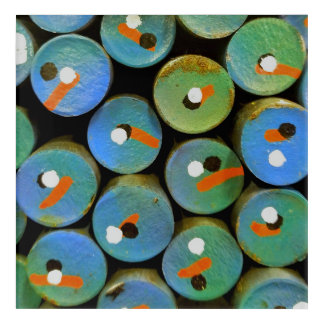 Impression En Acrylique Paon industriel