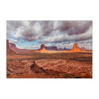 Impression En Acrylique Paysage de vallée de monument, AZ