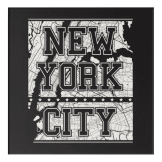 Impression En Acrylique Plan de ville de New York City  