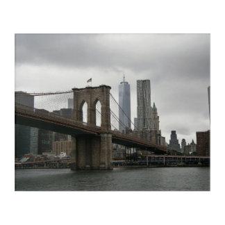 Impression En Acrylique Pont de Brooklyn et tour de liberté