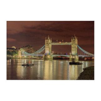 Impression En Acrylique Pont de tour la nuit, Londres