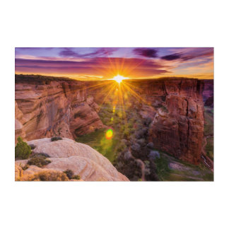 Impression En Acrylique Rayon de soleil chez Canyon de Chelly, AZ